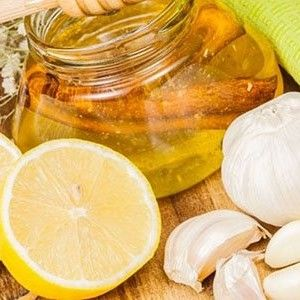 Чеснок, лимон, мед