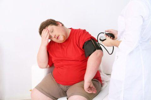 Ожирение — частая причина высокого давления