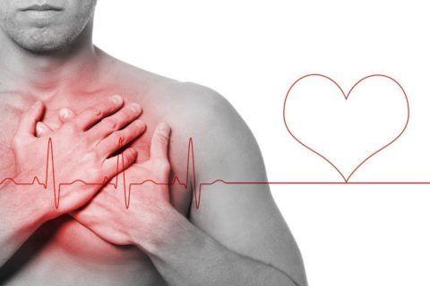 При обширном инфаркте погибает ткань сердца