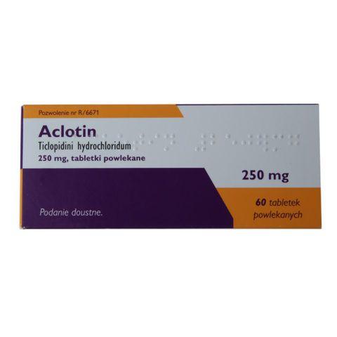 Тиклопидин или его аналог, Аклотин