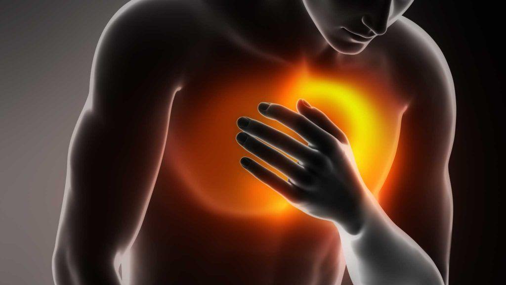 Боль в груди указывает на нарушения в организме различного характера