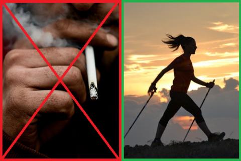 Никакая диета не поможет если не бросить курить и не нормализовать физические нагрузки