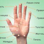 Точки для акупунктуры на руке.