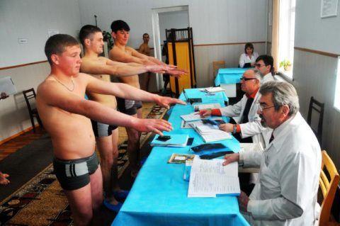 Медкомиссия на призывном пункте военкомата