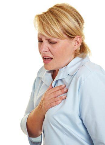 На фото симптом боли при стенокардии
