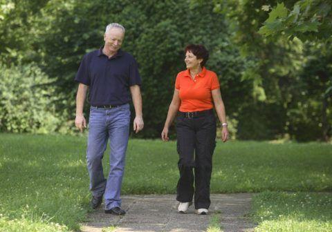 Для здоровья полезны ежедневные, пешие прогулки