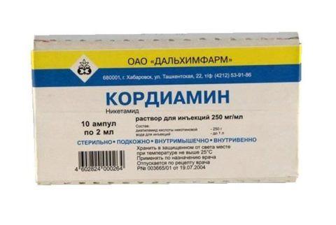 Препарат Кордиамин в форме раствора