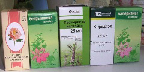 Аптечные настойки и капли для купирования стрессового состояния и улучшения сна
