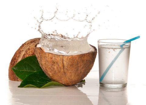 Кокосовая вода от давления