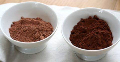 Темный порошок какао качесвтеннее