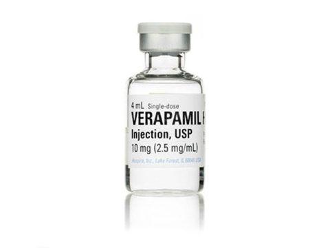 На фото Верапамил