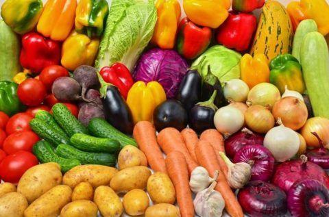 Овощи снабжают организм клетчаткой.