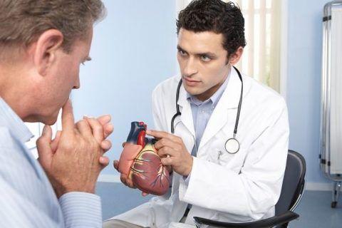 Врач кардиолог на приеме.