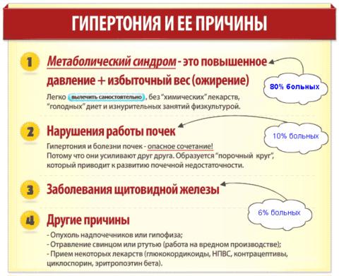 Факторы, провоцирующие гипертонию