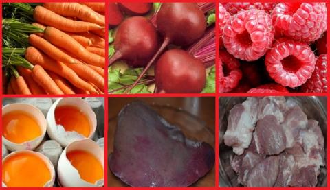 Продукты, помогающие повысить гемоглобин в крови