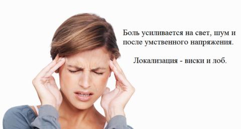 Характеристика головной боли при гипотонии