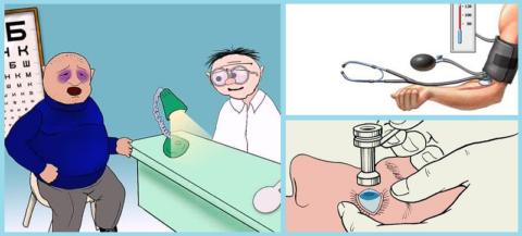 Повышение АД на 10 мм рт.ст. вызывает увеличение офтальмотонуса на 1 мм рт.ст.