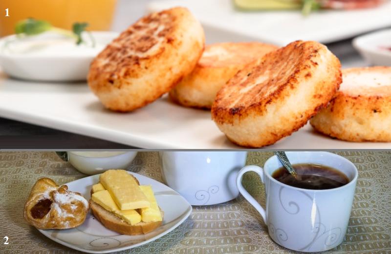 Идеальный первый завтрак гипертоника (1) и гипотоника (2)