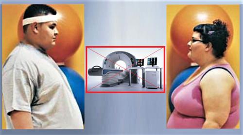 Платформы КТ-аппаратов не рассчитаны на вес более 150 кг