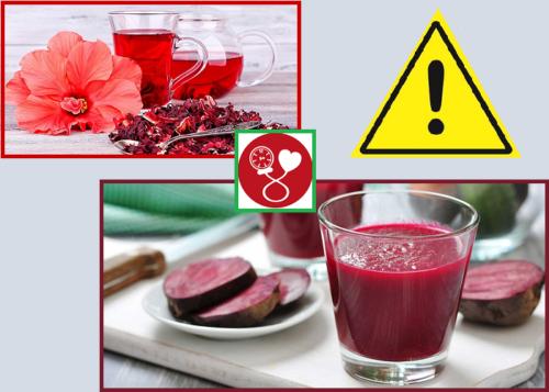 Чай Каркаде и свекольный сок при гипертонии следует пить с осторожностью