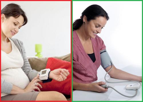 Измерять АД у беременной лучше тонометром, который снимает показания с плеча